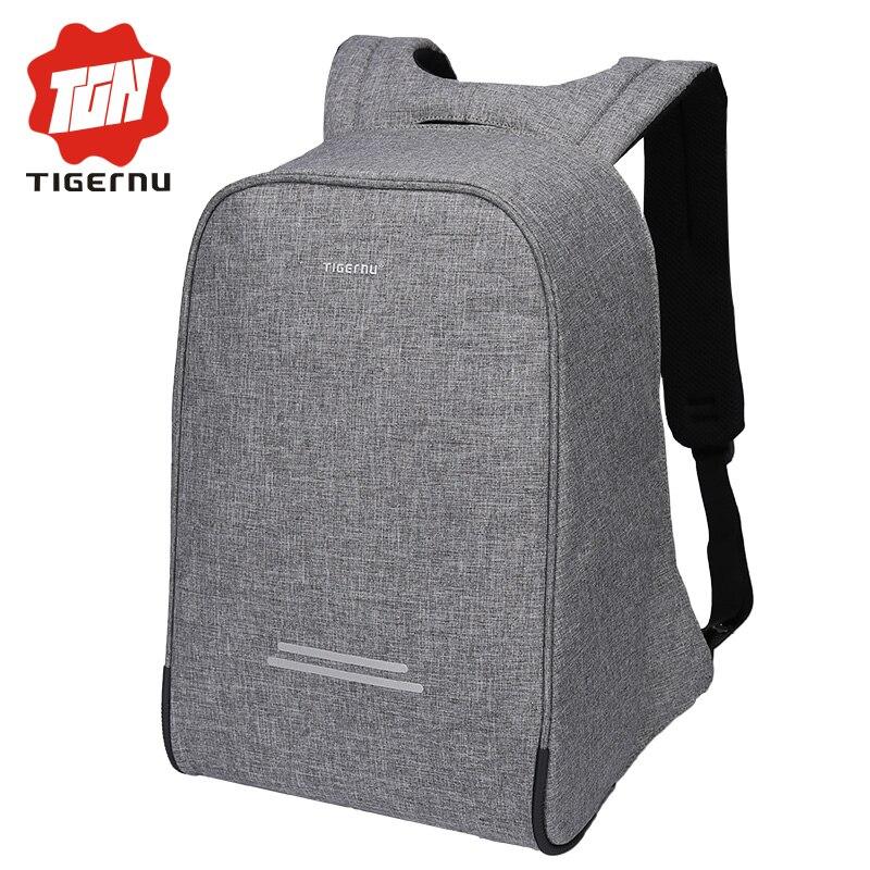 Tigernu multifonction Anti voleur USB charge 15.6 pouces sac à dos pour ordinateur portable mâle école étanche sac à dos pour hommes Mochila ordinateur-in Sacs à dos from Baggages et sacs    1