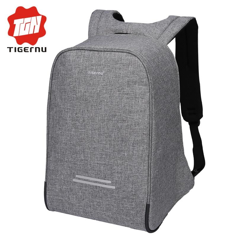 Tigernu wielofunkcyjny Anti theft USB do ładowania 15.6 cal plecak na laptopa plecak męski szkolny wodoodporny Mochila Bagpack dla mężczyzn komputera w Plecaki od Bagaże i torby na  Grupa 1