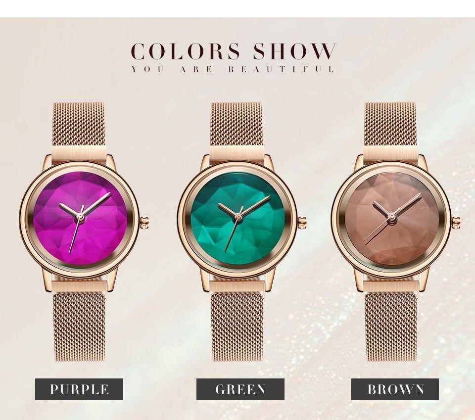 2019 Nova SK Mulheres Pulseira Relógios Reloj Mujer # 8806SS
