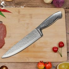 ФОТО sowoll 8 inch kitchen knife professional chef knife hammer veins pattern stainless steel knife hot sale home&hotel cooking tool