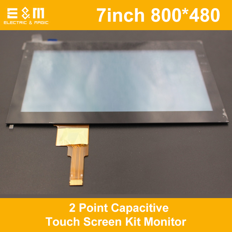 7 Inch 800*480 IPS 2 Point Capacitive Touch Screen Kit Monitor FT5406 Drive Set Gorilla Glass LCD