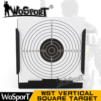 WoSporT Tactical Vertical Square Target 100pcs Target Papers Steel Archery Airsoft Gun Slingshot Bullet for Hunting Shooting