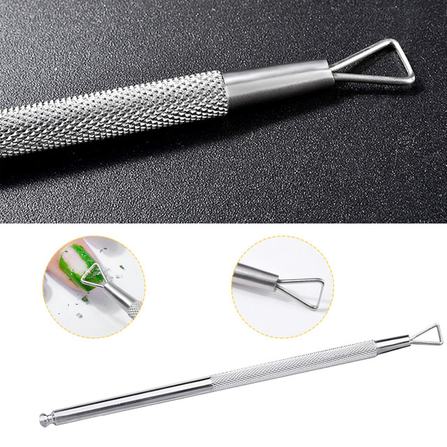 HOT Triangle Head Nail Gel Polish Remover Tool Stainless Steel Stick ...