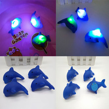 1 шт., Детские Плавающие дельфины, автоматическое светодиодное освещение, пляжные игрушки для детей, для ванной, для купания