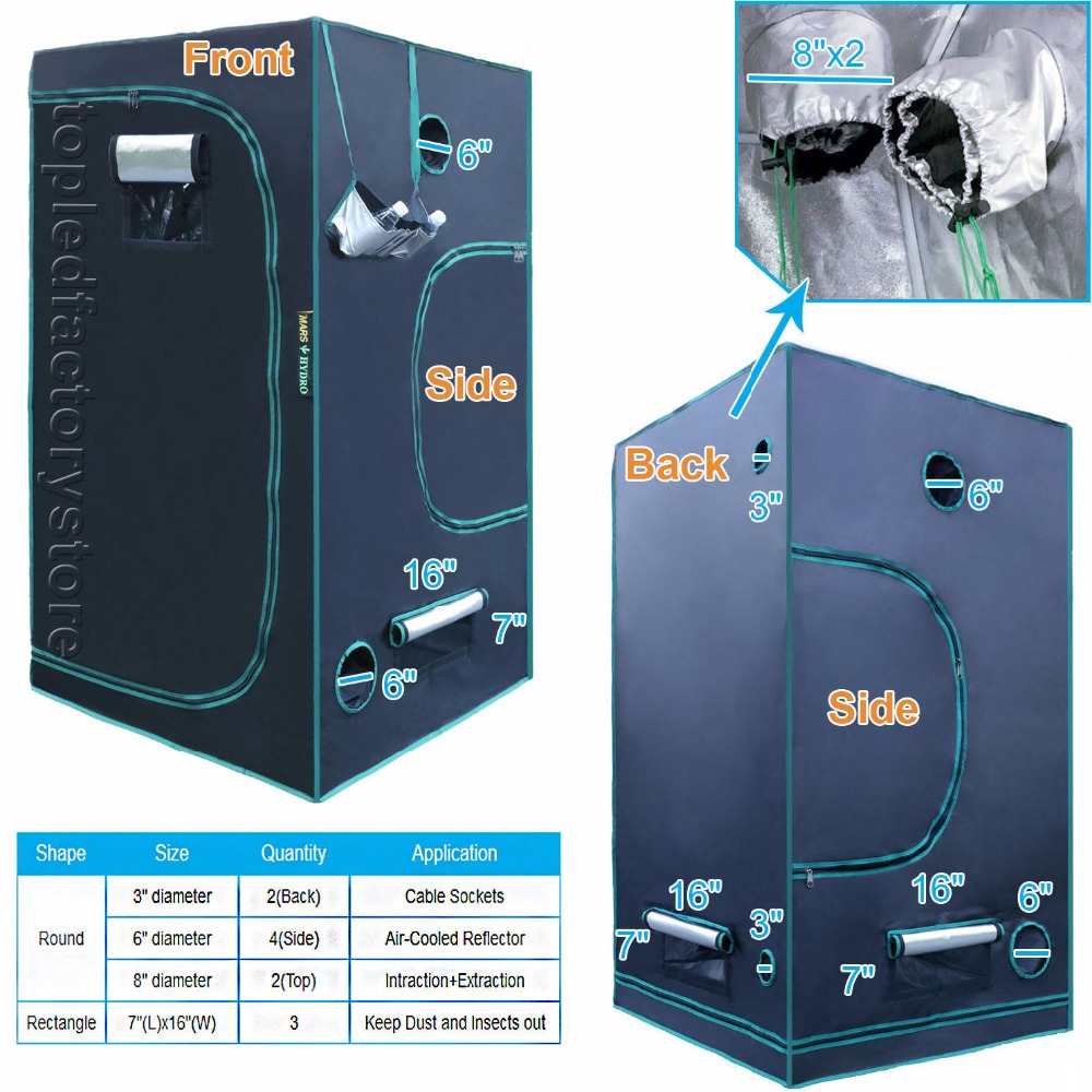 Levou Crescer Luzes 1680d marshydro indoor hidroponia grow Material : Double Thick Mylar Fabric, All Steel Frame Construction