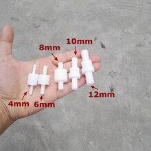 10 шт. давление рабочий пластиковый обратный клапан сопротивление масла и озона сопротивление 4 мм/6 мм/8 мм/10 мм/12 мм