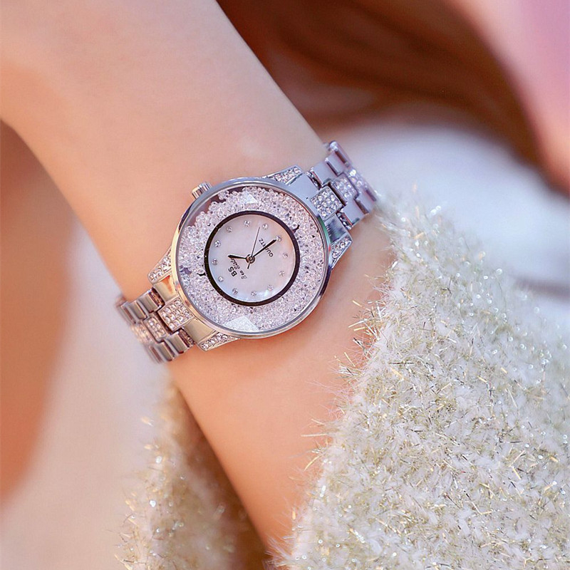 New hot sale no digital scale watch high end link dial movable rhinestone rhinestone dial strap female watch Fashion amp Casual in Women 39 s Watches from Watches