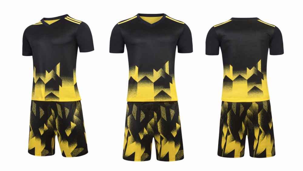 Prix pour Meilleur polyester qualité survetement football 2017 top nouveaux hommes de jersey costume de formation de football jersey uniformes Ensemble SJ-H809