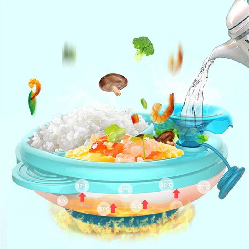 Children Eating Tableware Kids Bowl Dinnerware Set Plate Food Container Keep Food Warm Feeding Assist for Baby Infant Eating