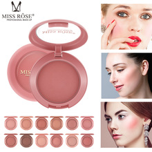 MISS ROSE12 Blush Repairing Ruddy Round Matte Blush Naturally Brighten Skin Tone Rouge Makeup Cream Blush Makeup Sweet Peach цена