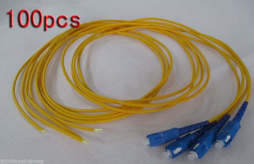 100pcs 1.5 Meters SC Pigtail Single Mode 9/125 Fiber Optic Cord,Fiber patch cord картридж epson original t059940 для stylus photo r2400 светло серый