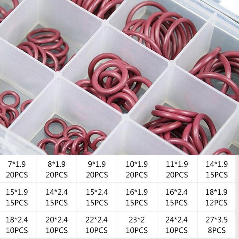 Для автомобильной A/C кондиционер Системы уплотнительное кольцо комплект Ассортимент Набор красный HNBR резиновые R134a r12
