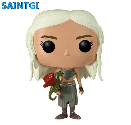 FUNKO POP Oyun thrones Daenerys Targaryen PVC 10 CM Hakiki Action Figure Bebek Koleksiyon Model Oyuncaklar T513