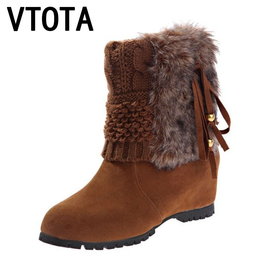 VTOTA Boots Women Fashion Autumn Martin Boots Warm Women Shoes Ankle Boots For Women Winter Botas Mujer Wedges Ankle Boots D23 vtota boots women fashion autumn martin boots warm women shoes ankle boots for women winter botas mujer wedges ankle boots d23