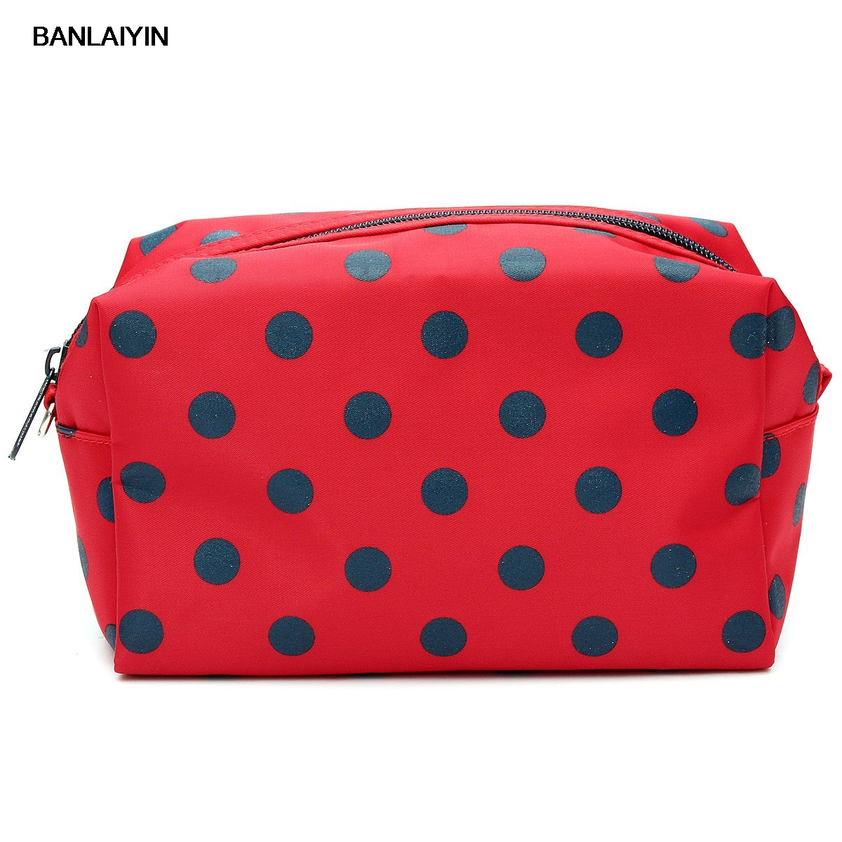 WholeTide 10* Cosmetic/Make-Up/Organizer Bag Pouch Zipper Hand Case Red цена и фото