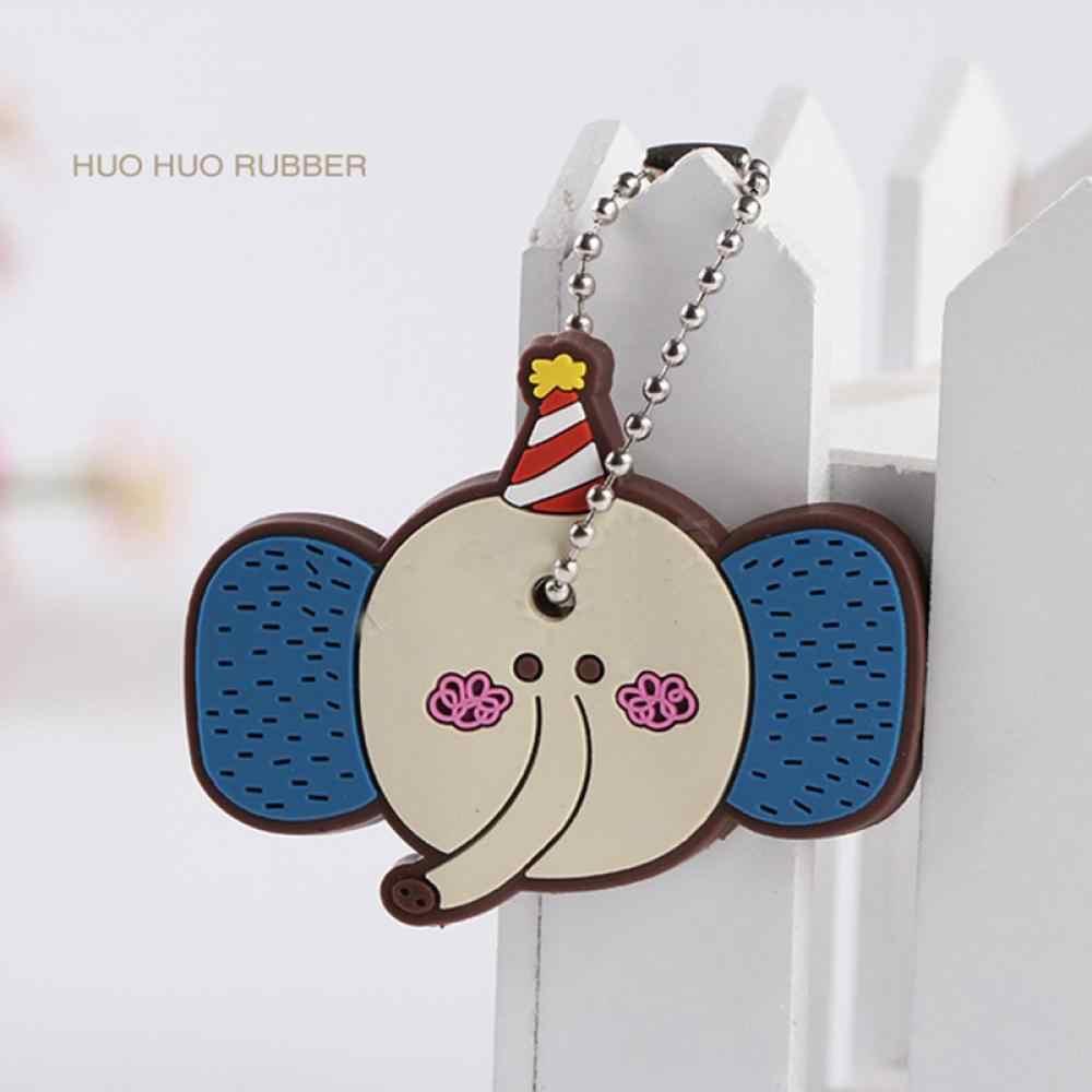 1 peça Tampa do Teclado de Silicone Para As Mulheres Cap Ponto Chave Keychain Dos Desenhos Animados Panda Chaveiros Bonito Chaveiro Presentes chave Titular