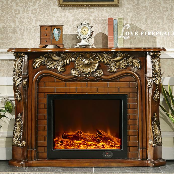 repisa de la chimenea de madera de estilo francs