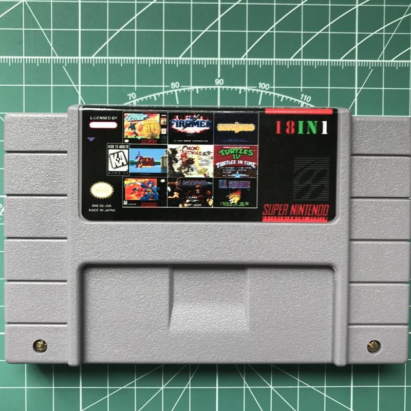18 en 1 16 bits multi jeu cartidge NOUS Version