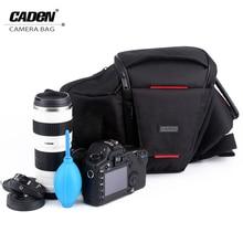 CADeN DSLR Camera Waist Bag Packs Photo Video Black Sling Shoulder Cross Bags Protective Carry Case for Canon Nikon Sony K3