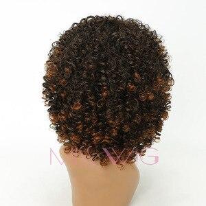 Image 2 - MISS WIG perruque synthétique Afro longue et bouclée et crépue de 18 pouces, perruque américaine mixte Blonde et brune 280g pour femmes noires