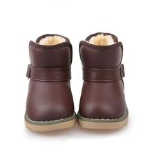 Spring Autumn 2016 European Children Boots Girl Boy PU Leather Shoes Kids Boots Shoes Chaussure Enfant.