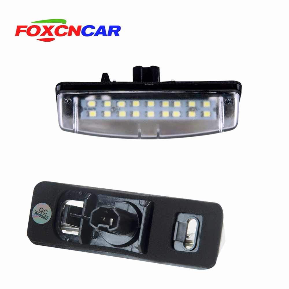 Foxcncar 2pcs 18 SMD car led license plate light lamp For Toyota Camry/AURION Avensis Verso PRIUS  Previa-ACR50 GSR50 LEXUS 12V