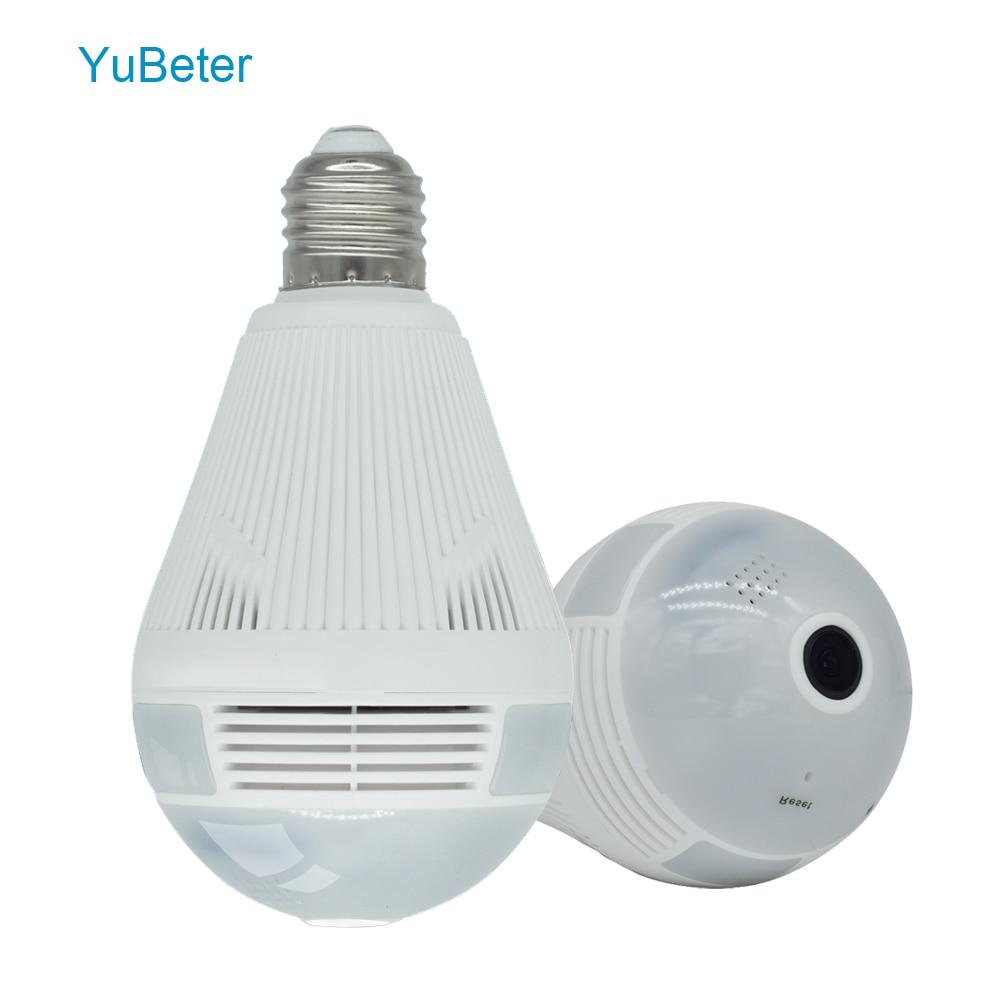 YuBeter Wifi Panoramic Camera Bulb 360 Wireless IP Camera Lamp CCTV Home Security Video Surveillance Night Vision Two Way Audio