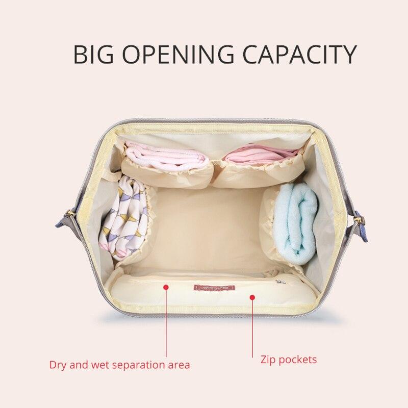 SUNVENO Mummy Maternity Diaper Nappy Väska Organisera Stor Kapacitet - Blöjor och potträning - Foto 3