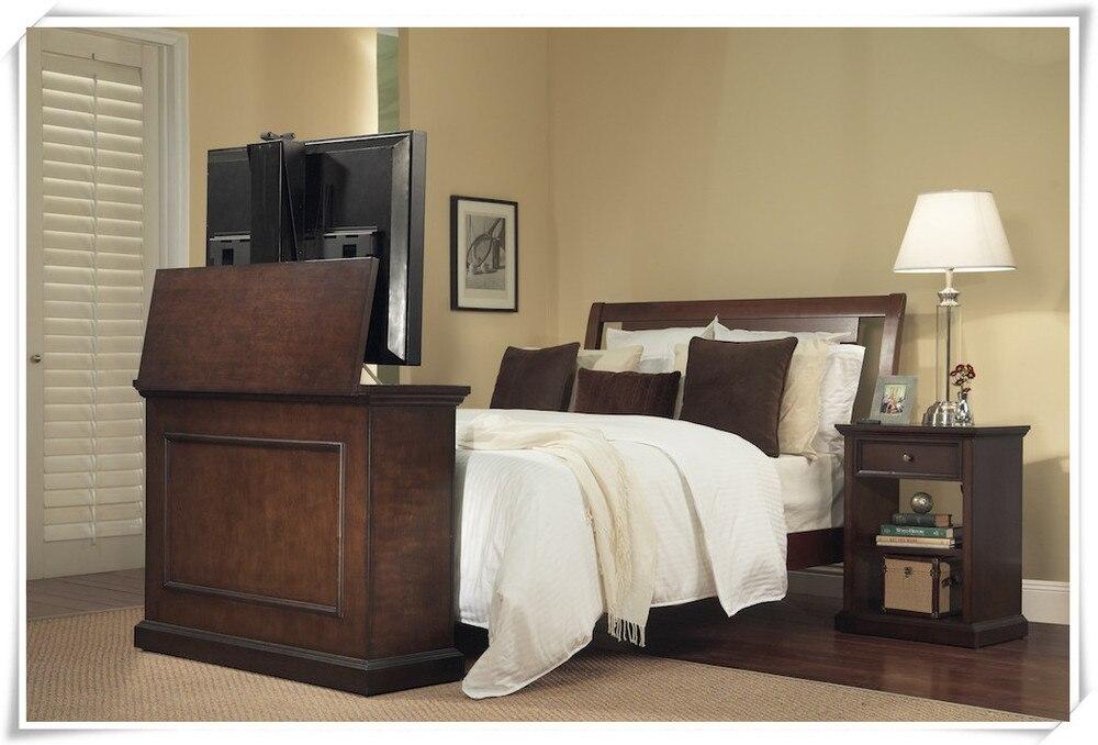 slaapkamer automationleather bed tv lift uit bed voor bed