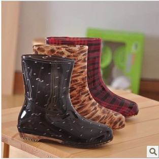 Aliexpress.com : Buy Hot Sale! Cute Ankle Rain Boots, Red Black ...