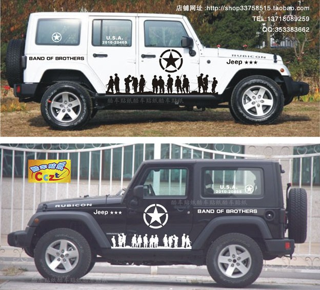 Fj Cruiser Sticker >> Free shipping Pretty car modified car stickers for Jeep Wrangler off road jeep Cherokee Pickup ...