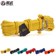 XINDA 2017 10mm steel wire rope escape lifeline fire device supplies 10meters Gift buckle Storage bag