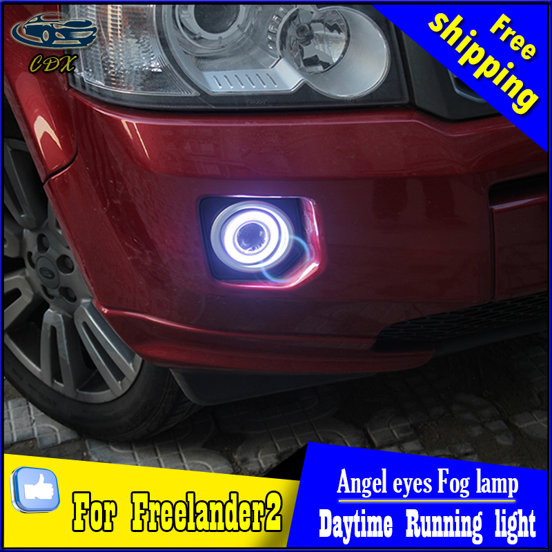 CDX car styling angel eyes fog light  for Freelander 2  2011-2015 year LED fog lamp LED Angel eyes LED fog lamp Accessories купить