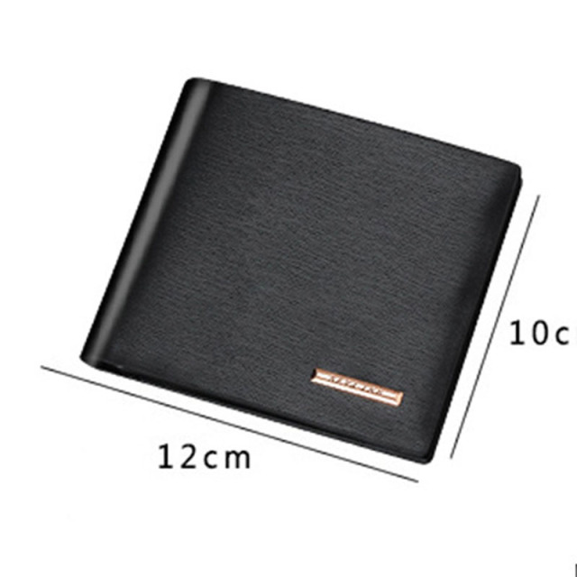Men Wallets Leather Male Luxury Famous Brand Casual Quality Credit Card Holder Purse Wallet Coin Pocket Black Billetera Hombre 5
