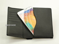 E6 Custom Made Real Leather case Wallet With Card Slots For Samsung Galaxy Note 4 Edge N9150