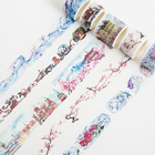 Ice and Snow View Ice castle Frozen Flower Snowscape Plum blossom Christmas Decoration Washi Tape DIY Planner Diary Masking Tape