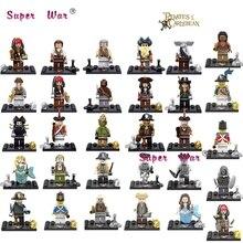 20pcs Captain Pirates of The Caribbean Jack Sparrow Classic movie figure character Maccus building blocks bricks models baby toy