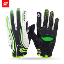 Nuckily new design touch screen full finger cycling Gloves for adults   PD06