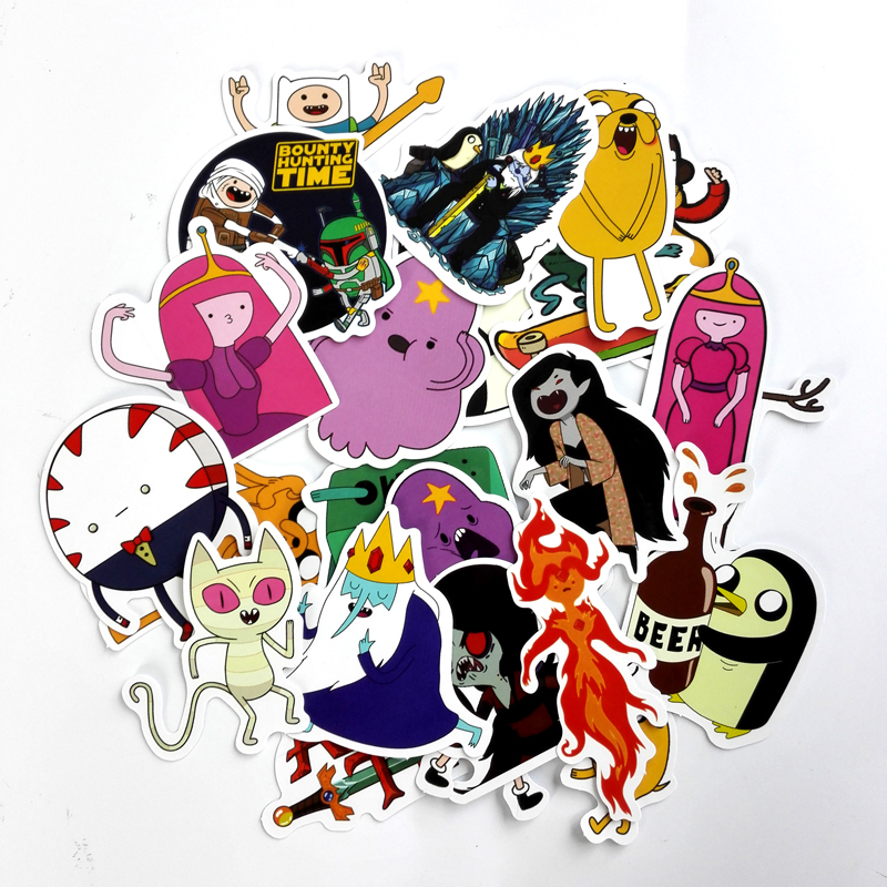 Td Zw 25pcs American Drama Adventure Time Funny Sticker