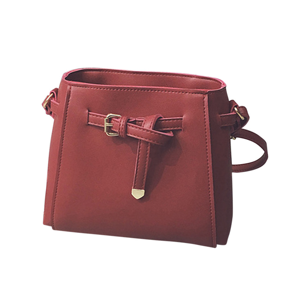 *2017 Solid Women Leather Handbags Women Messenger Bag Ladies Shoulder Crossbody Bag For Women Fashion Handbag Shoulder Ba