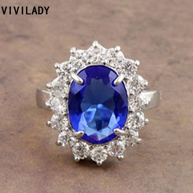 vivilady jewelry created crystal wedding rings princess kate princess diana favorite women bijoux accessory bague femme - Princess Kate Wedding Ring