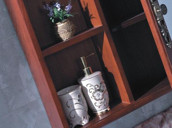 Nieuwe ontwerp italiaanse stijl hout badkamermeubel met spiegel