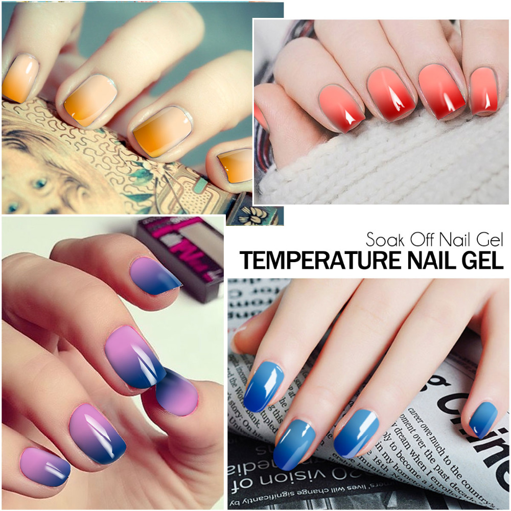 AZURE BEAUTY Temperature Chameleon Gel Polish Dark Blue Color Hybrid ...