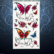 Lace Butterfly Sexy Products Temporary Tattoo Roses Pattern Women Summer Style Tattoo Stickers PGF241 Kids Body Arm TAttoo paste