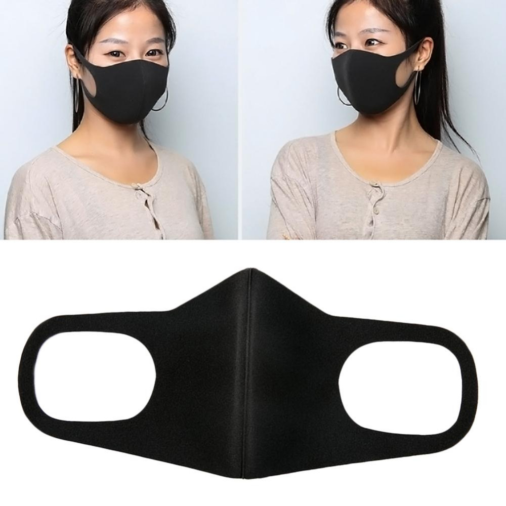Mouth Mask PM2.5 Anti Haze Black Dust  Nose Filter Windproof Face Muffle Bacteria Flu Fabric Cloth Respirator