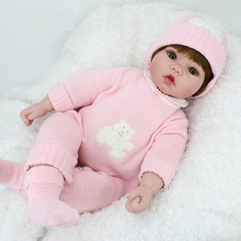 New 20 inches Doll Reborn Soft Vinyl Kawaii Reborn Baby Dolls with Clothes Newborn Realistic babies Reborn Dolls Babies Toys kawaii baby dolls