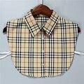women's Plaid design apparel collocation fashion detachable false collar Clothing accessories tie shirt collar Sweater collar