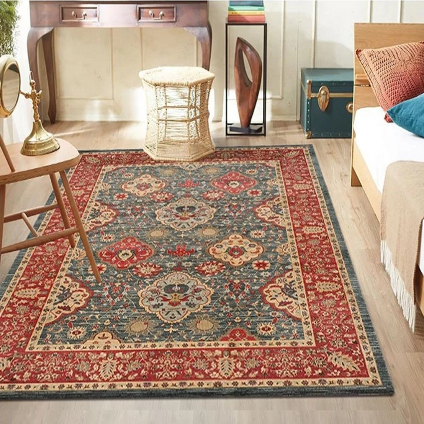 Retro style classical Persian living room rug big size American style coffee table carpet gorgeous home