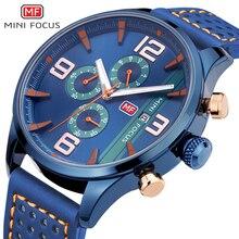 Mini Focus Marine Jam Tangan Jam Tangan Fashion Pria Leather Strap  Chronograph 3 Dial 6 Tangan Kalender Top Merek Mewah Jam Tang. c987e5dd55