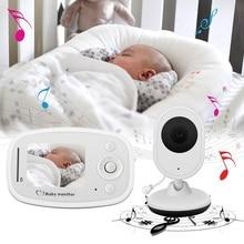 Babykam audio nanny baby monitor with camera 2.4 inch IR Night Vision Intercom Temperature Sensor Zoom baby monitor for newborns